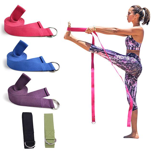 Yoga Curea Bumbac Gros Durabil Curea D-Ring Ajustabilă Fizioterapie întindere Fizioterapeuți Pilates Fitness Gimnastică antrenament Pentru