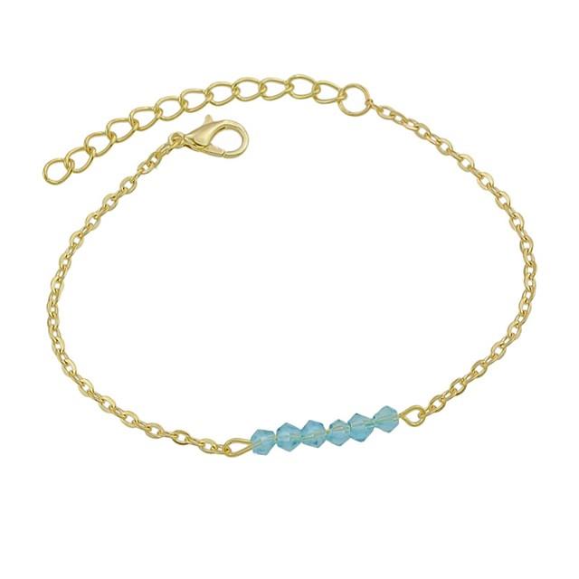 Bracelet de cheville dames Basique Mode Femme Bijoux de Corps Pour Quotidien Vacances Tourmaline d'imitation Alliage Bleu Blanche