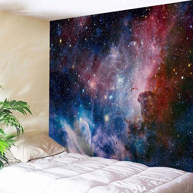 tapisserie murale art décor couverture rideau pique-nique nappe suspendu maison chambre salon dortoir décoration fantaisie galaxie étoile lune soleil
