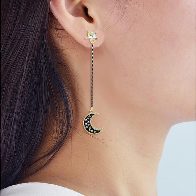 Boucle d'Oreille Pendantes Incompatibilité Lune Etoile dames Des boucles d'oreilles Bijoux Dorée Pour Quotidien Rendez-vous