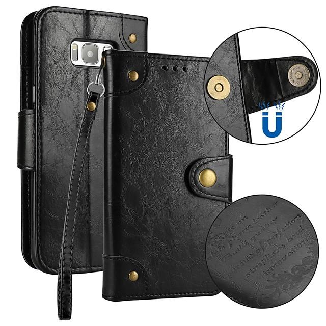 Coque Pour Samsung Galaxy S9 / S9 Plus / S8 Plus Portefeuille / Porte Carte / Clapet Coque Intégrale Couleur Pleine Dur faux cuir