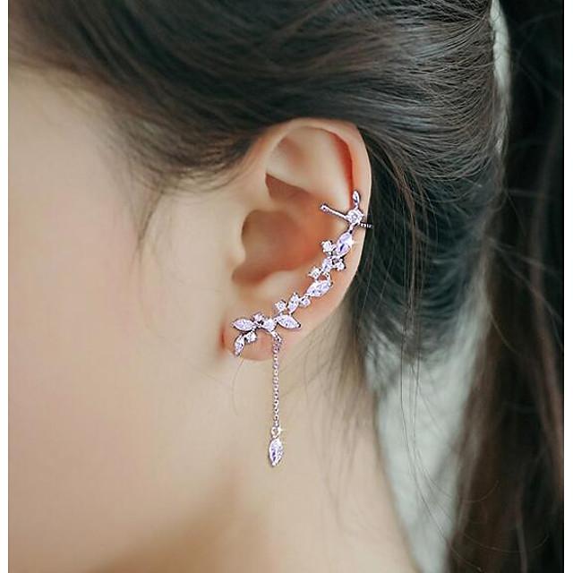Pentru femei Zirconiu Cubic Cătușe pentru urechi Cățărătorii de urechi Modă Argilă cercei Bijuterii Argintiu Pentru Nuntă Petrecere 1 buc