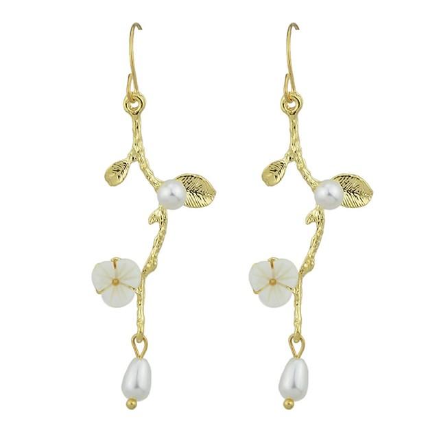 Femme Boucle d'Oreille Pendantes Forme de Feuille Fleur dames Mode Des boucles d'oreilles Bijoux Dorée Pour Cadeau Rendez-vous