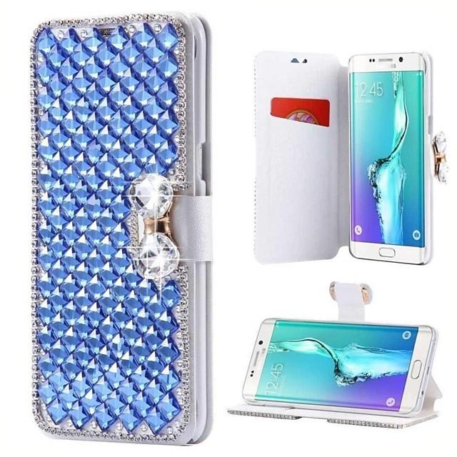 Funda Para Samsung Galaxy J7 Prime 2(J7 Prime (2018)) / J7 (2017) / J5 Prime Soporte de Coche / Diamantes Sintéticos / con Soporte Funda de Cuerpo Entero Un Color Dura Cuero de PU