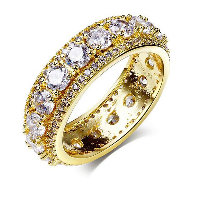 18 Karat Plaqué Or Zircon Cubique Bar et Circle silver ring//cadeaux pour elle//moderne anneau