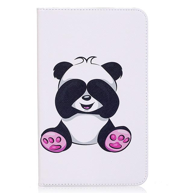 Coque Pour Samsung Galaxy Tab E 8.0 Portefeuille / Porte Carte / Avec Support Coque Intégrale Panda Dur faux cuir