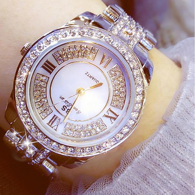 Dam Frackur Diamond Watch guldklocka damer Kronograf Ramtyp Guld Silver / Två år / Rostfritt stål / Rostfritt stål / Självlysande / Diamant Imitation