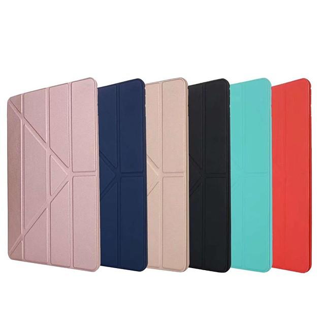 telefono Custodia Per Apple iPad Air iPad 4/3/2 iPad Mini 3/2/1 iPad Mini 4 iPad (2018) iPad Pro 11 pollici iPad Mini 5 iPad New Air (2019) iPad Air 2 iPad Pro 9.7 '' Origami Tinta unita Resistente