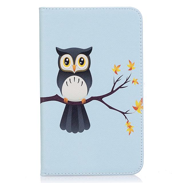 Coque Pour Samsung Galaxy Tab A 7.0 (2016) Portefeuille / Porte Carte / Avec Support Coque Intégrale Chouette Dur faux cuir