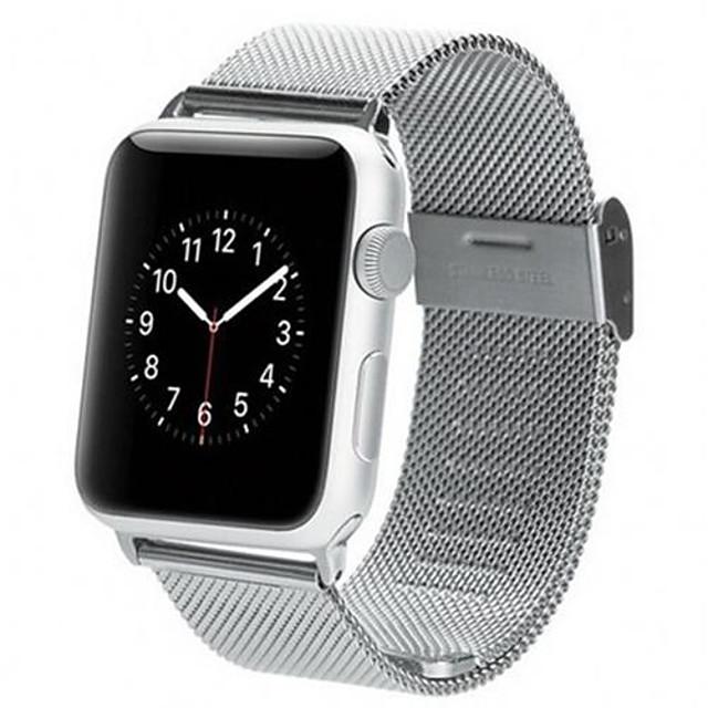 Uhrenarmband für Apple Watch Series 5/4/3/2/1 Apple Mailänder Schleife Edelstahl Handschlaufe
