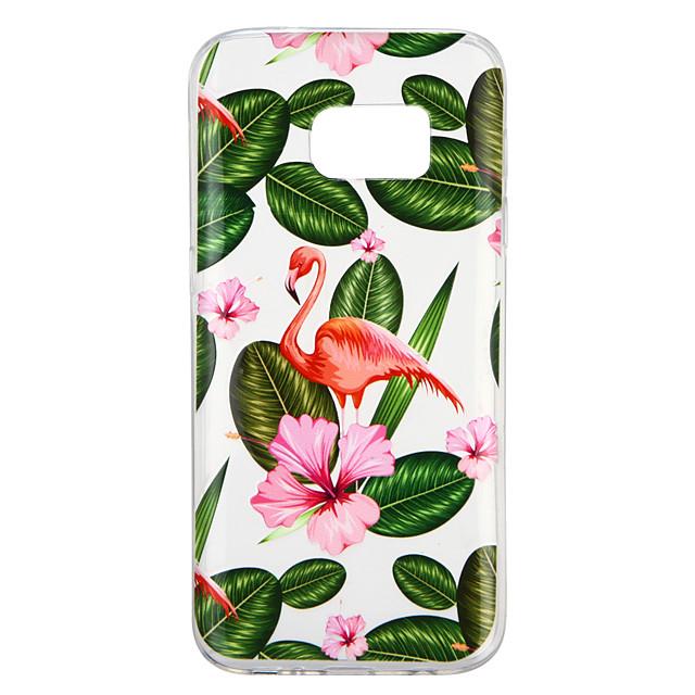 Coque Pour Samsung Galaxy S7 Transparente / Motif Coque Plantes / Flamant Flexible TPU