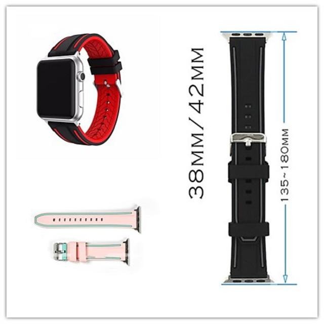 Ремешок для часов для Серия Apple Watch 5/4/3/2/1 Apple Классическая застежка силиконовый Повязка на запястье