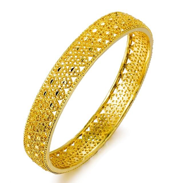 Bracelet Jonc dames Ethnique Bracelet Bijoux Dorée Forme de Cercle pour Anniversaire Cadeau