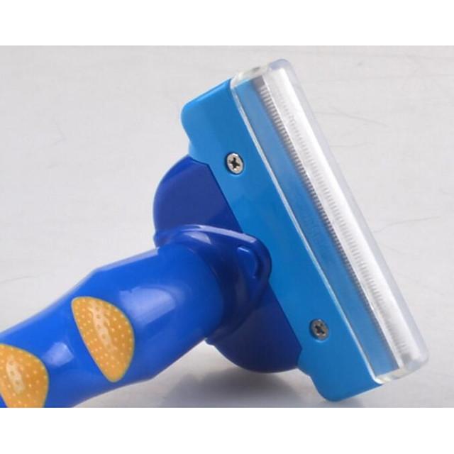 Chien Chat Nettoyage Outils de délestage Plastique Peignes Etanche Portable Boîtier Inclus Animaux de Compagnie Accessoires de Toilettage Bleu 1