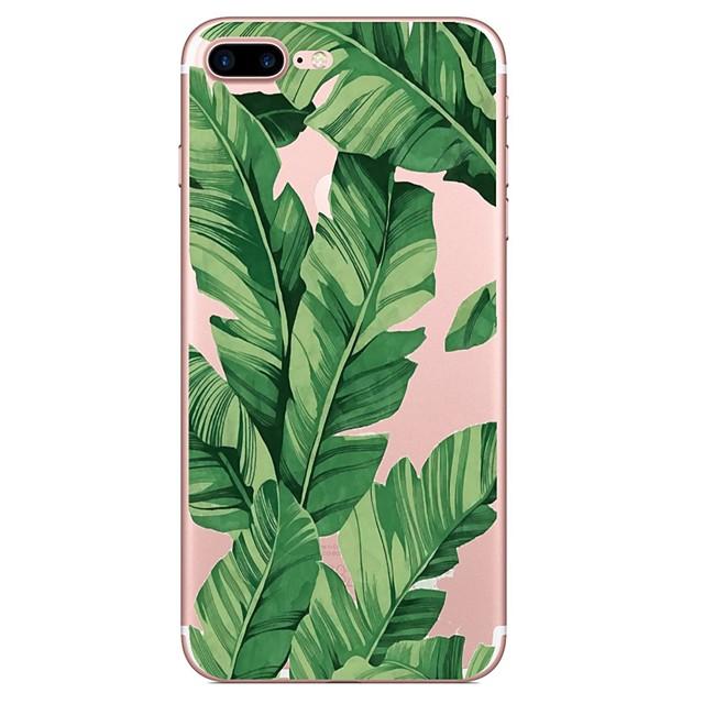 Θήκη Za Apple iPhone X / iPhone 8 Plus / iPhone 8 Uzorak Stražnja maska Biljke / drvo Mekano TPU