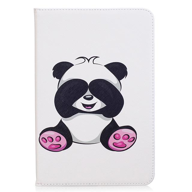 Coque Pour Samsung Galaxy Tab A 8.0 Portefeuille / Porte Carte / Avec Support Coque Intégrale Panda Dur faux cuir