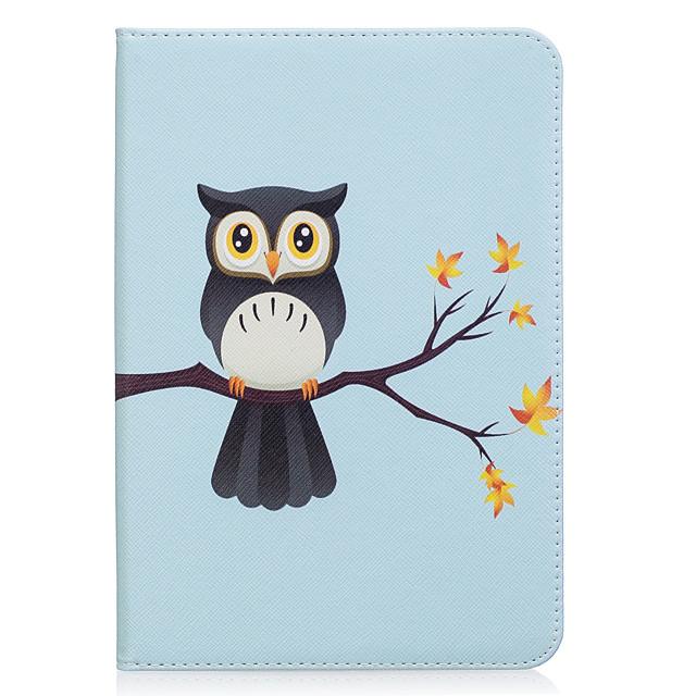 Coque Pour Samsung Galaxy Tab S2 8.0 Portefeuille / Porte Carte / Avec Support Coque Intégrale Chouette Dur faux cuir