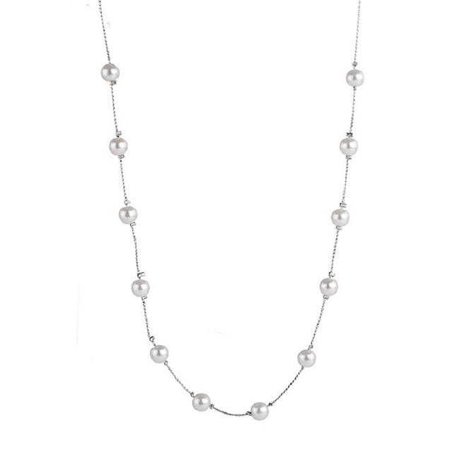 Collier Choker / Ras de Cou Collier Sautoir Tanzanite Perle dames Doux Mode Argent 50+5 cm Colliers Tendance Bijoux pour Vacances Sortie Forme de Cercle