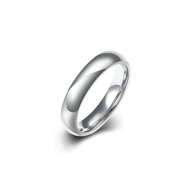 Band Ring Argintiu Teak Oțel titan De Bază Cool Inginerie 1 buc 8 9