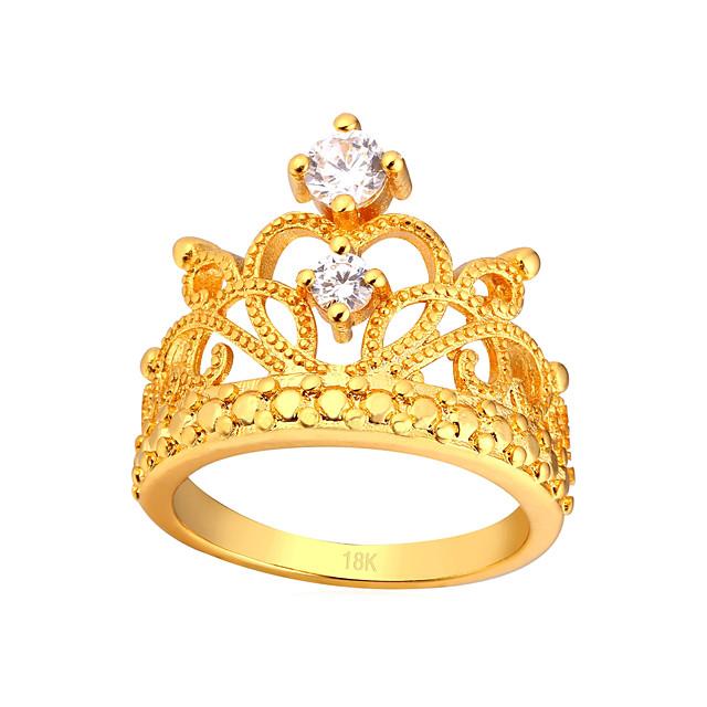 Bague de Phalange Diamant Dorée Argent Cuivre Couronne dames Mode 6 7 8 9 10 / Zircon