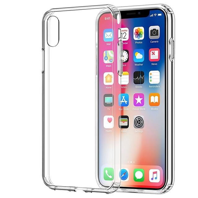 Кейс для Назначение Apple iPhone X / iPhone 8 Pluss / iPhone 8 Прозрачный Кейс на заднюю панель Однотонный Мягкий ТПУ