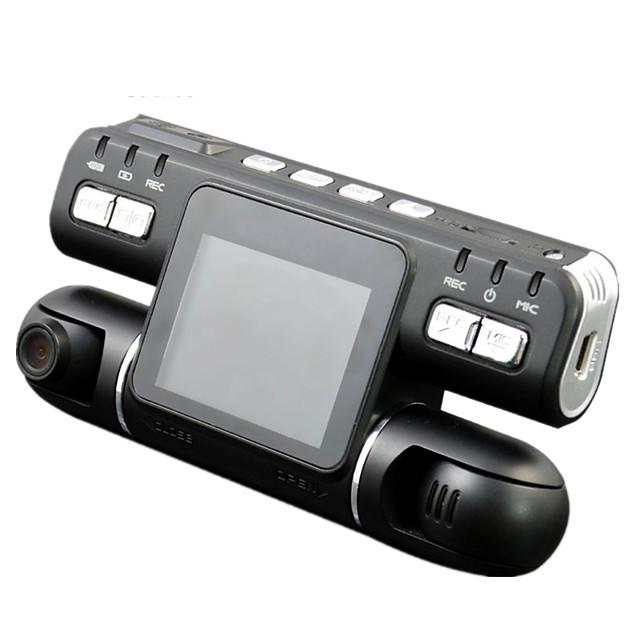 F105 1080p ראיית לילה / 360 ° ניטור / עדשה כפולה רכב DVR 120 מעלות זווית רחבה CMOS 2.7 אִינְטשׁ LCD דש קאם עם Motion Detection רכב מקליט