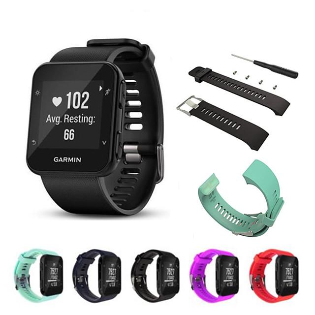 Ремешок для часов для Forerunner 35 Samsung Galaxy / Garmin Спортивный ремешок силиконовый Повязка на запястье