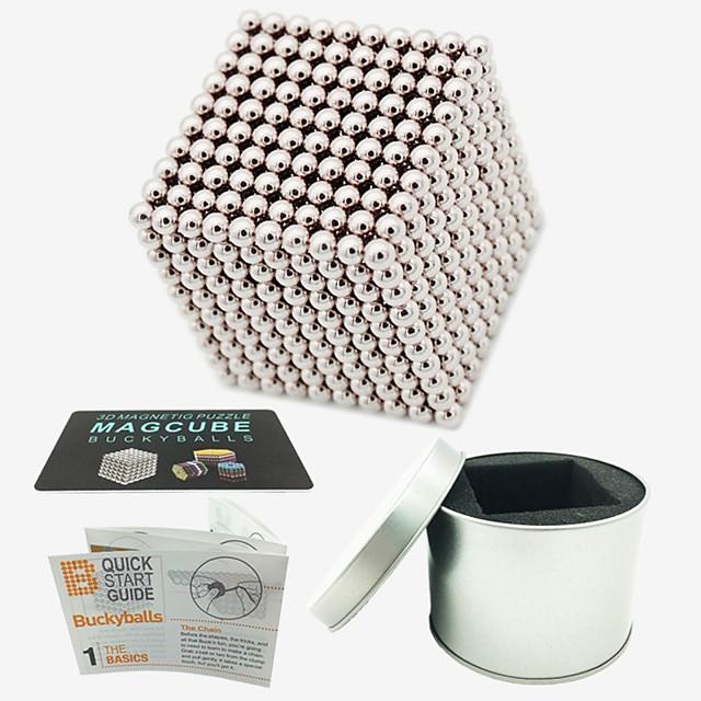 1000 pcs Jouets Aimantés Boules Magnétiques Blocs de Construction Aimants de terres rares super puissants Aimant Néodyme Cube casse-tête Jouets Aimantés Magnétique Soulagement de stress et l'anxiét