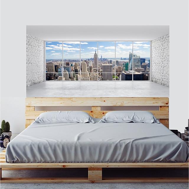 Abstrait / Paysage Stickers muraux Autocollants avion / Autocollants muraux 3D Autocollants muraux décoratifs, Plastique et métal / Vinyle Décoration d'intérieur Calque Mural Mur / Verre / salle de