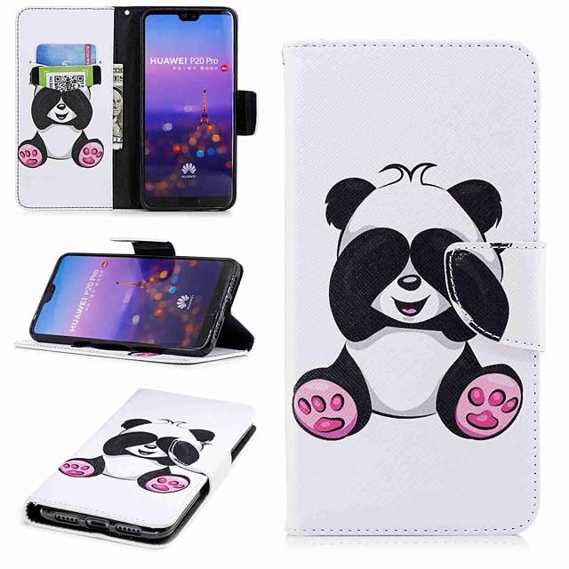 מגן עבור Huawei Huawei P20 / Huawei P20 Pro / Huawei P20 lite ארנק / מחזיק כרטיסים / עם מעמד כיסוי מלא פנדה קשיח עור PU / P10 Lite / P10