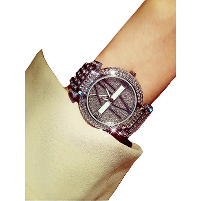 Femme Montre Montre de diamant Quartz dames Chronographe Lumineux Imitation de diamant Analogique Dorée Argent / Deux ans / Japonais / Japonais / Deux ans