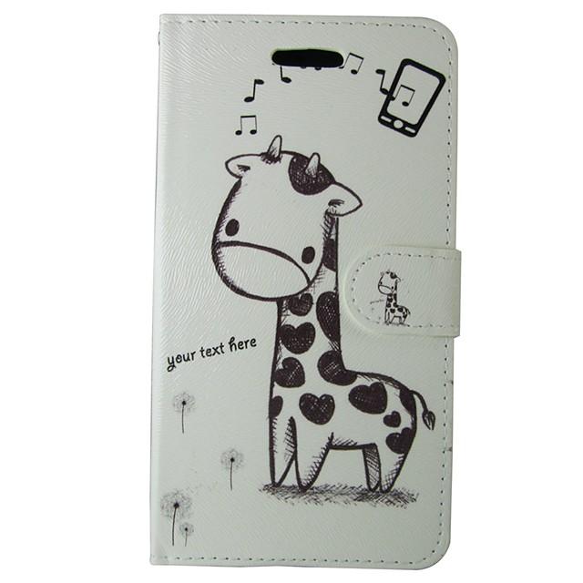 Maska Pentru Samsung Galaxy S7 / S6 edge / S6 Portofel / Titluar Card / Cu Stand Carcasă Telefon Animal / Desene Animate Greu PU piele