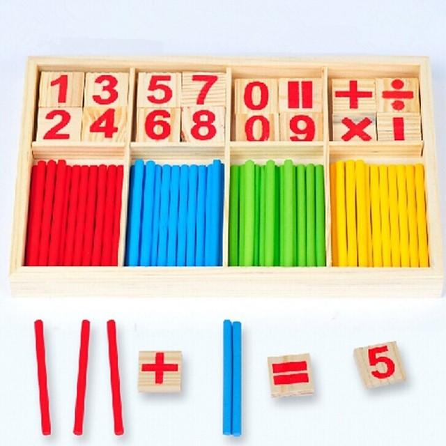 Outils Pédagogiques Montessori Jeu de Boulier Jouet Educatif Interaction parent-enfant En bois 1 pcs Enfant Jouet Cadeau / Développer la créativité