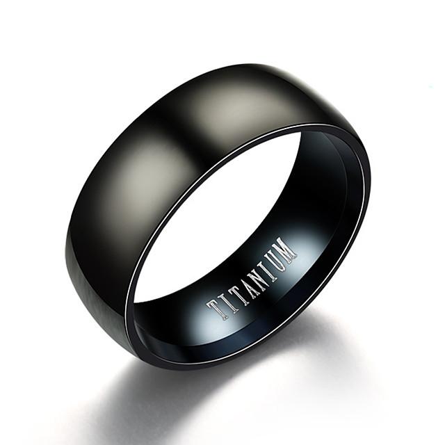 วงแหวน สีดำ Titanium Steel ทังสเตนเหล็ก สแตนเลส วินเทจ จิวเวลเริ่มต้น 6 7 8 9 10