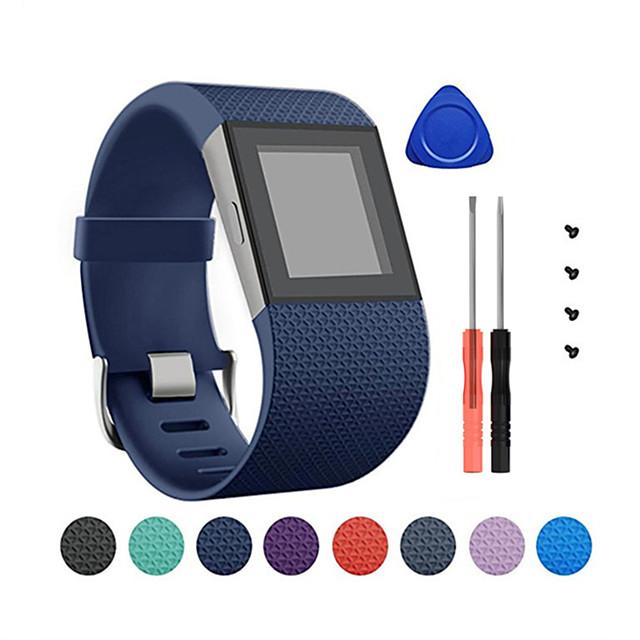 Smartwatch-Band für Fitbit 1 pcs Klassische Schnalle Silikon Ersatz Handschlaufe für Fitbit Surge