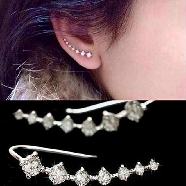 Pentru femei Perle Cercei Picătură Căști de cățărare Cercei cu spirală Manşetă femei Imitație de Perle Zirconiu Cubic cercei Bijuterii Auriu / Argintiu Pentru