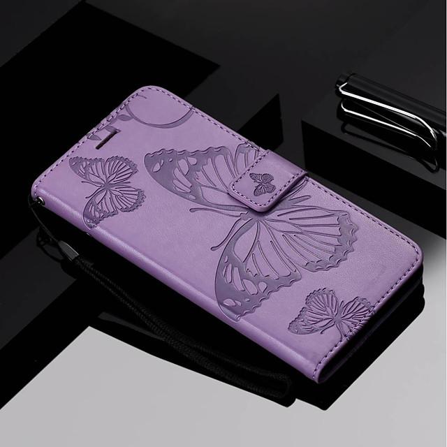 غطاء من أجل نوكيا Nokia 6 2018 / Nokia 5 / Nokia 3 محفظة / حامل البطاقات / مع حامل غطاء كامل للجسم فراشة قاسي جلد PU