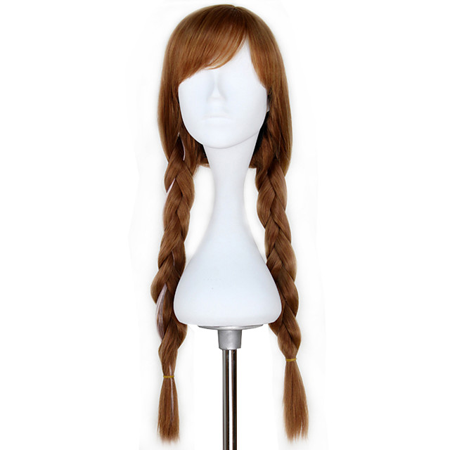 Cosplay Prinsessa Cosplay Anna Cosplay-Peruukit Naisten 28 inch Heat Resistant Fiber Aikuiset Anime peruukki