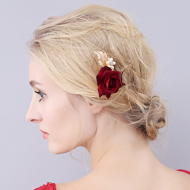 Tissus Épingle à cheveux avec Fleur 1 Pièce Mariage / Fête / Soirée Casque