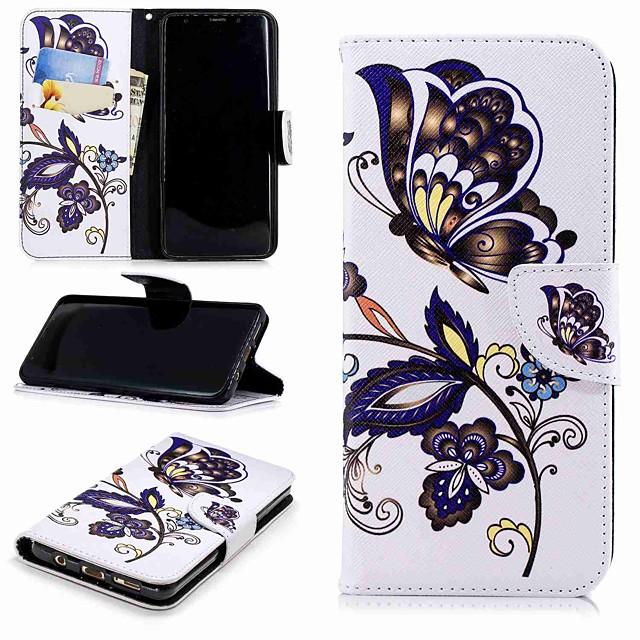 Кейс для Назначение SSamsung Galaxy S9 / S8 Plus Кошелек / Бумажник для карт / со стендом Чехол Панда Твердый Кожа PU