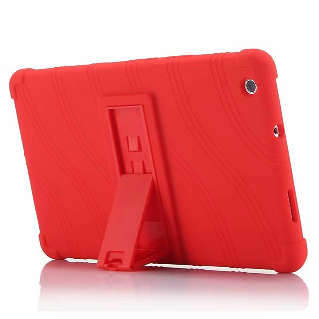 غطاء من أجل Huawei MediaPad Huawei MediaPad M3 Lite 8(CPN-W09, CPN-AL00 ضد الصدمات / مع حامل غطاء خلفي لون سادة ناعم سيليكون