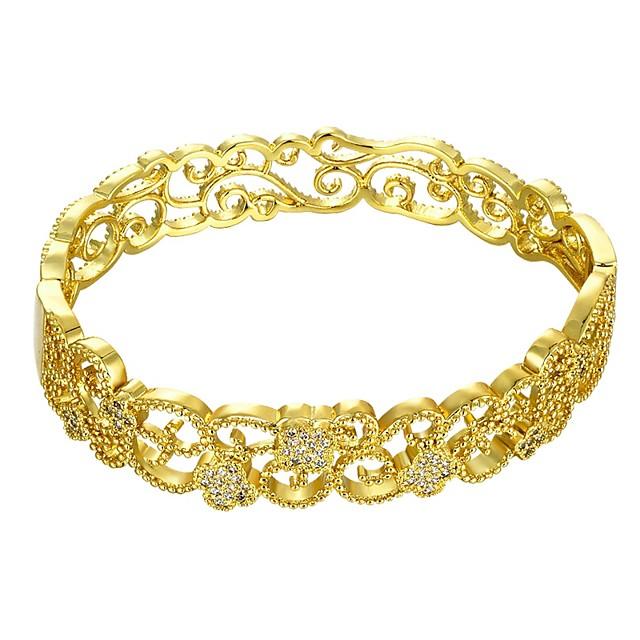 نسائي أسورة سيدات موضة مطلية بالذهب مجوهرات سوار ذهبي / ذهبي روزي من أجل هدية مناسب للبس اليومي