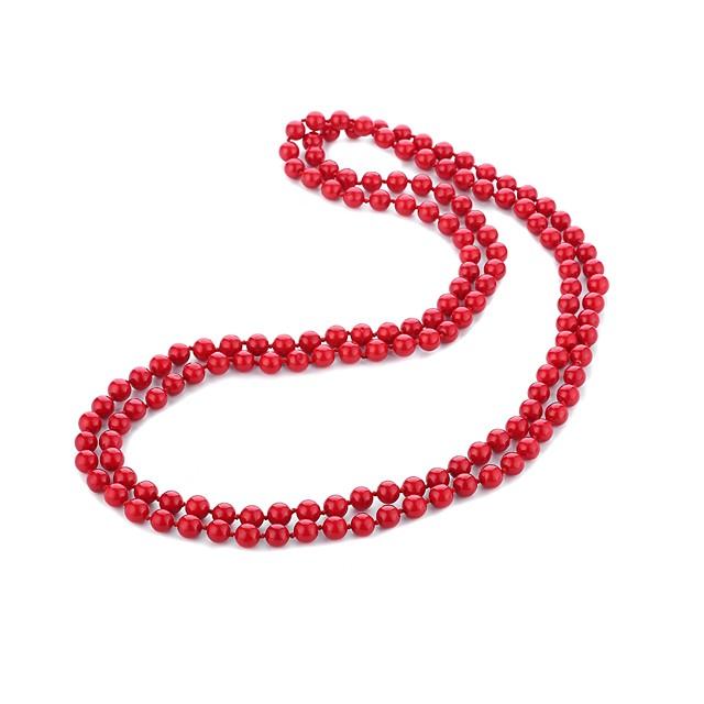 نسائي لؤلؤ عقد طويل سيدات فني الآسيوي ترف اللؤلؤ سبيكة أحمر 140 cm قلادة مجوهرات 1PC من أجل رسمي عيد ميلاد