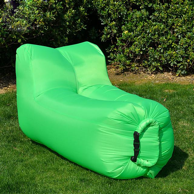 أريكة هوائية فرشة الهواء في الهواء الطلق تخييم مقاوم للماء المحمول خفة الوزن 210D نيلون 140*70*70 cm إلى 1 شخص شاطئ Camping / Hiking / Caving كل الفصول أخضر