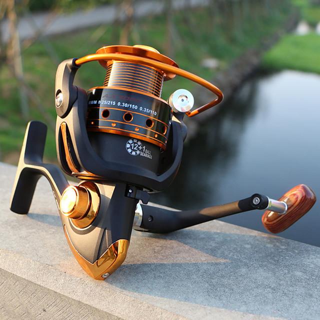 Fishing Reels بكرة دوارة 5.2:1 نسبة أعداد التروس والاسنان+12 الكرة كراسى الصيد البحري / طعم الاسماك / توجيه اليد قابلة تغيير