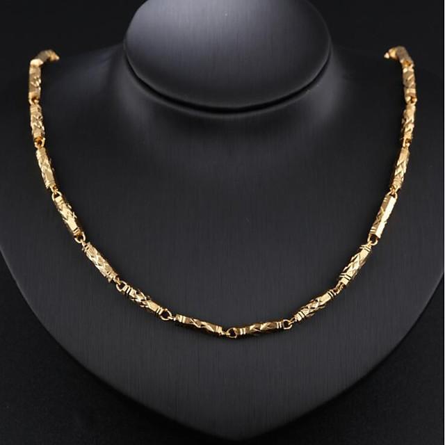 رجالي قلادات السلسلة سلسلة باهت موضة دبي مطلية بالذهب عيار 18 مطلية بالذهب ذهبي 51 cm قلادة مجوهرات 1PC من أجل حفل / مساء مناسب للبس اليومي