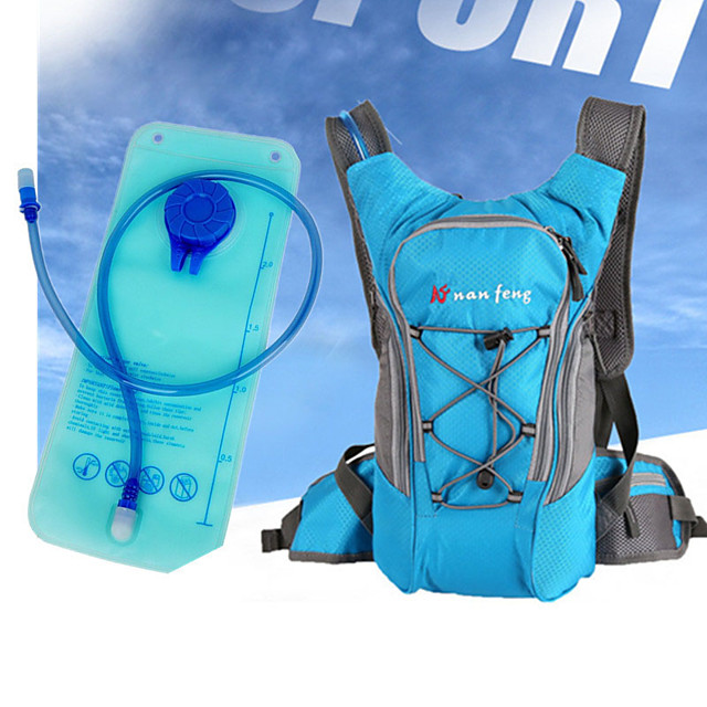 10 L سلة الري و مخزون الماء متنفس مكتشف الأمطار يمكن ارتداؤها حقيبة الدراجة نايلون حقيبة الدراجة حقيبة الدراجة المشي لمسافات طويلة الدراجة