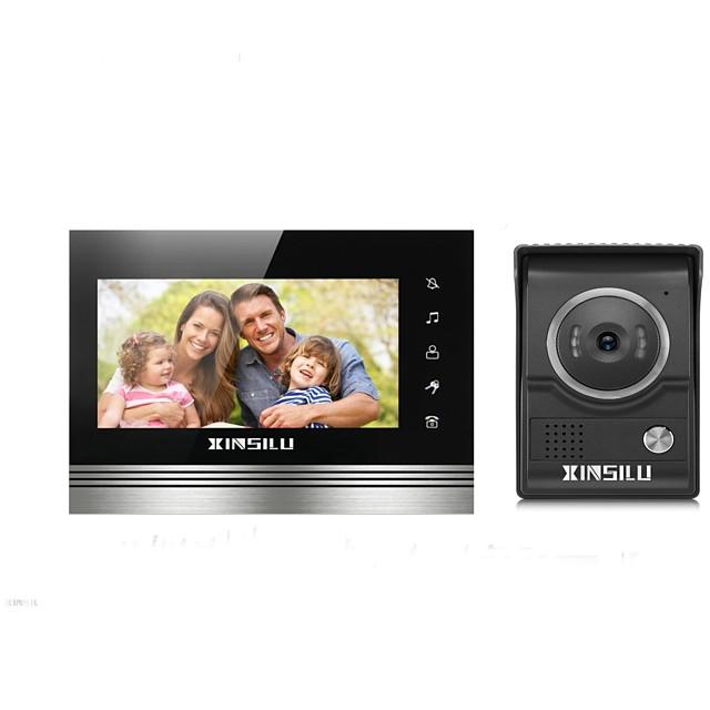 XINSILU XSL-V70K-L+,black 7 بوصة حر اليدين 800*480 بكسل واحد إلى واحد Doorphone الفيديو