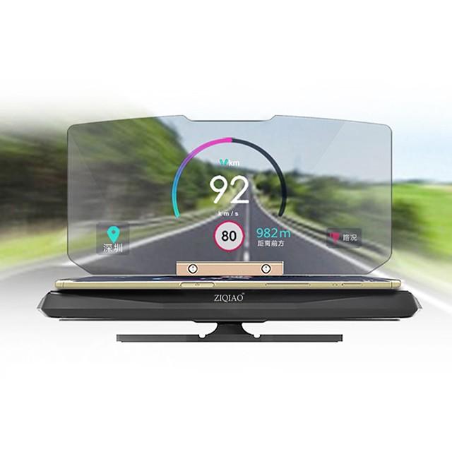 ZIQIAO 6 pouce Affichage tête haute GPS / Pliable / Affichage multifonctionnel pour Automatique / Bus / Camion Afficher KM / h MPH / Plastique ABS