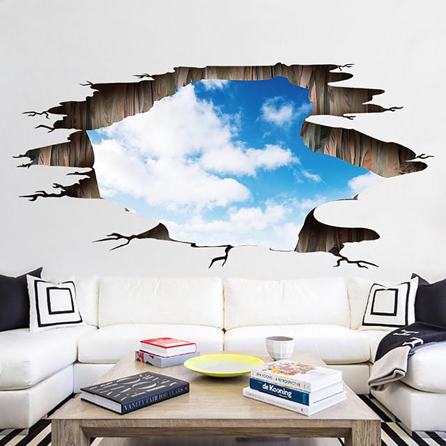 مناظر طبيعية / 3D ملصقات الحائط لواصق ملصقات الكلمة, الفينيل تصميم ديكور المنزل جدار مائي جدار / أرضية زخرفة 1PC / قابل اعادة الوضع